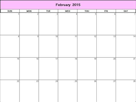Printable Calendar 2015 Net   february 2015 printable blank calendar