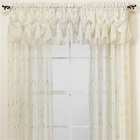 croscill sheer curtains croscill 174 cavalier sheer window curtain panel bed bath