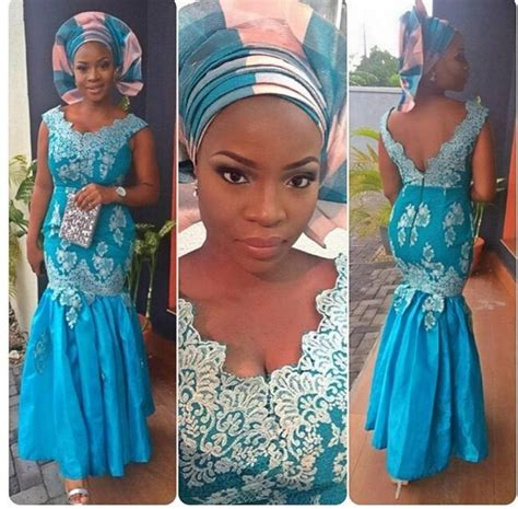 native and vogue 2015 bellanaija 2015 blue nigerian lace styles dresses aso ebi bella naija