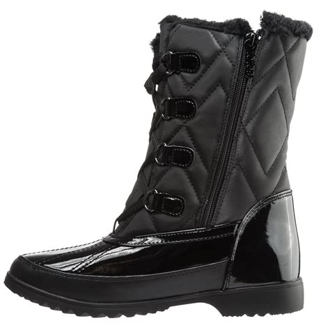 totes quilted lace up pac boots for save 37
