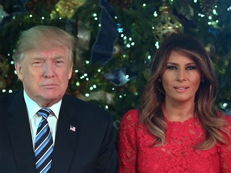 donald trump christmas message watch donald melania trump celebrate the miracle of