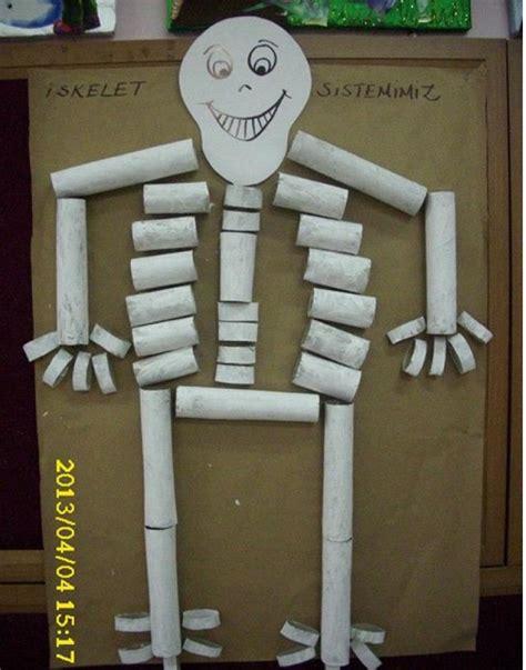 human crafts for toilet rolls skeleton human craft preschool crafts