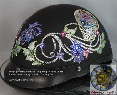 helmet design vinyl skull helmet custom design on flat black dot helmet