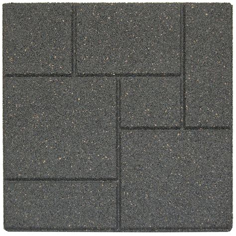 envirotile cobblestone 18 in x 18 in grey paver 70 pack