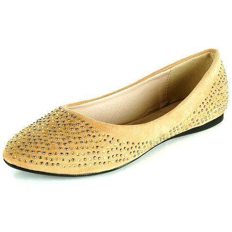 pointed toe loafer womens womens ballet flats slip on rhinestone shoe faux suede