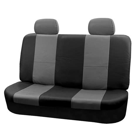 bench car seat covers pu leather rear bench seat covers top quality for car truck suv minivan ebay