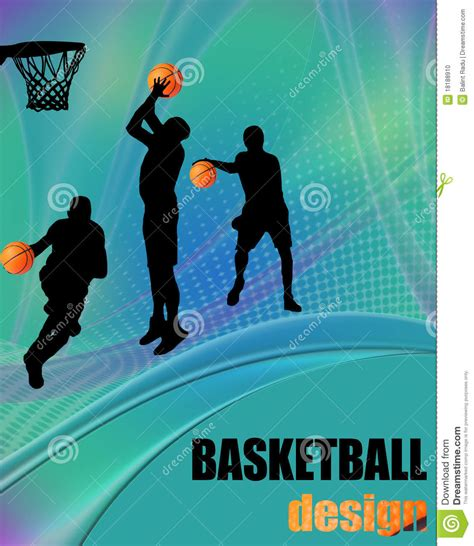 design poster basketball basketball design poster stock photo image 18188910