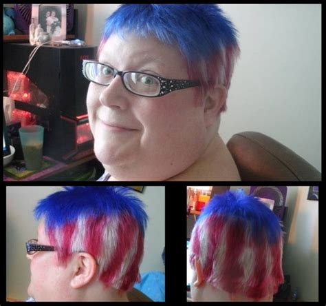 crimson obsession splat without bleach patriotic flair using splat bodacious blue a mixture of