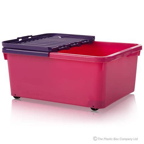 under bed storage box buy 30lt under bed pink plastic storage box with wheels