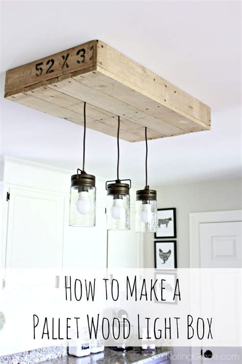 how to build a pallet light box for your kitchen island noting grace