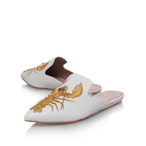 otter slippers otter bone flat slippers by kg kurt geiger kurt geiger