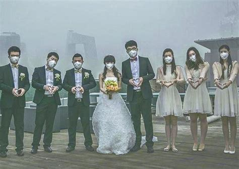 wedding during heavy pollution