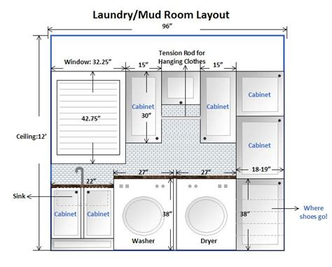 Layout Laundry | laundry room design layout this is our laundry mud room