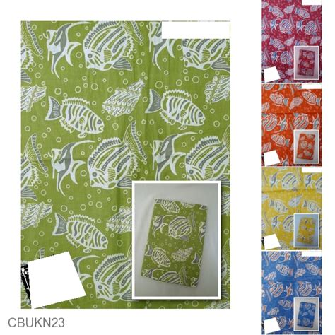 Bantal Gepeng Katun Print kain batik katun print motif gelembung parang ikan kain murah batikunik
