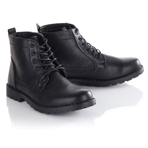 s black twisted soul cracked leather work boots
