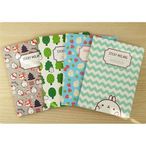 Stick Note Molang bookcodi molang pattern sticky memo note fallindesign