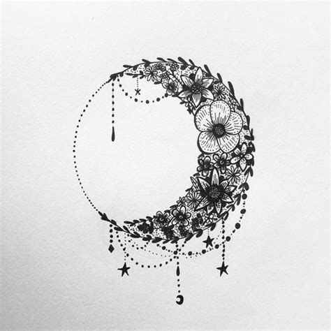 small moon tattoo designs best 25 tribal moon ideas on of