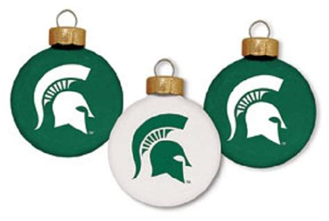michigan state university spartans glass christmas