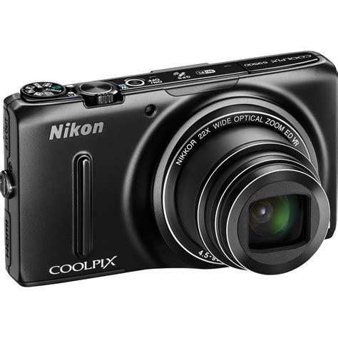 nikon digital coolpix nikon coolpix s9500 digital black 26418 b h photo