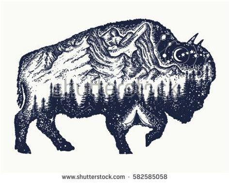 tribal buffalo tattoos best 25 bison ideas on buffalo
