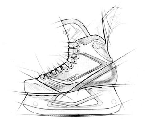 Easton Mako Hockey Skates Sketch Coloring Page Bauer Skate Sizing Template