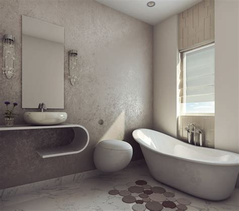 3d bathroom designer modern earthy design bath room free 3d model max