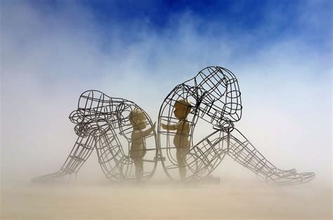 beautiful sculpture shows   child trapped