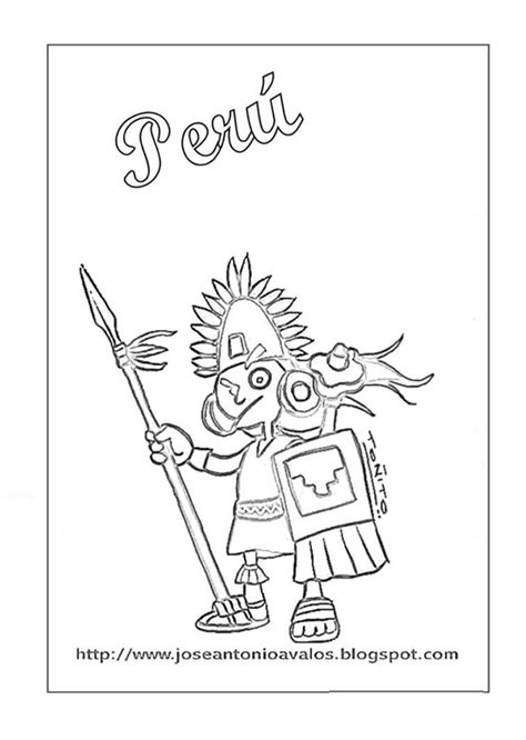 Dibujos Peru para colorear -Manualidades Infantiles