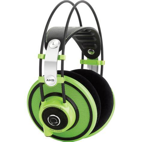 Akg Q701 Quincy Jones Green Edition Headphone akg q701 quincy jones signature on ear reference 2458z00200 b h