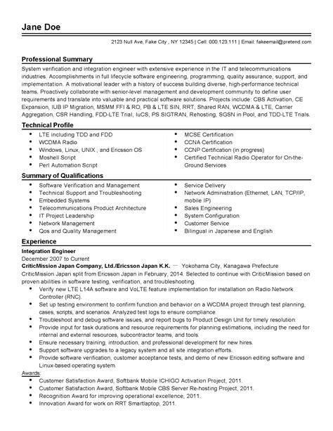 Senior Automation Engineer Cover Letter by Resume Senior Test Engineer Cover Letter Resume Daily