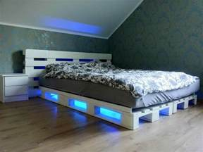 Platform Bed With Storage Diy Pallet Bed With Under Lights 101 Pallets