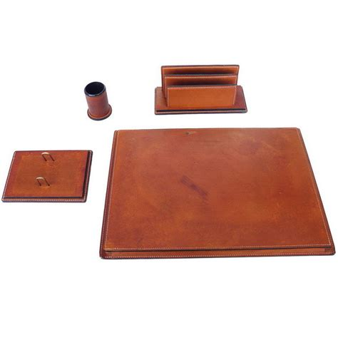 Desk Accessories Leather Leather Desk Accessories Set Home Design Ideas