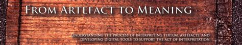 design artefacts meaning from artefact to meaning understanding the process of