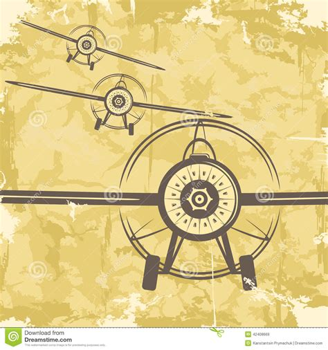 enveloppe postale illustration de vecteur conception grunge de carte postale de vintage avec l avion vecteur illustration de vecteur