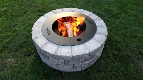 can i have a fire pit in my backyard how to build a zentro smoke less fire pit youtube