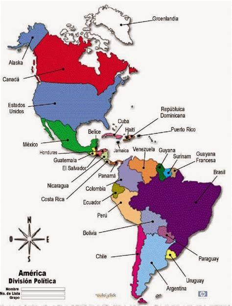 mapa politico de america imagenes mapa de am 233 rica para colorear