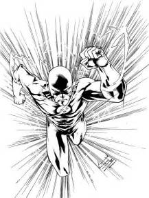 coloring pages the flash running and superhero sketch template - Flash Running Coloring Pages