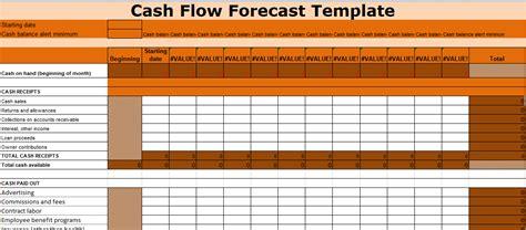 cash flow forecast template excel  excel