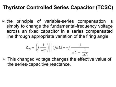 thyristor controlled series capacitor 28 images facts ac transmission systems thyristor