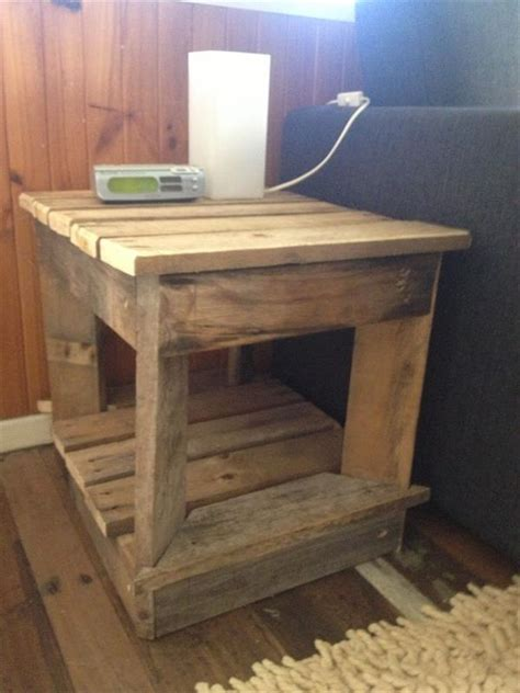 diy reclaimed wooden pallet bedside tables pallets designs