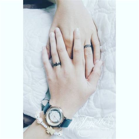 matching ring tattoos for couples wedding ring tattoos ideas ring finger for