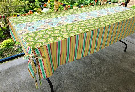 Patio Table Tablecloths Patio Strips Stripes Tablecloth Sew4home