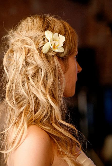 romantic hairstyles down mother of the bride half up half down wedding hairstyles