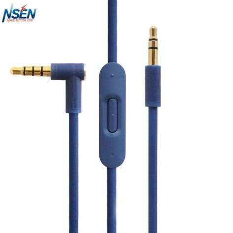 replacement audio cable with inline remote microphone for