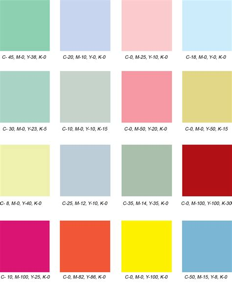 1950s color scheme design practice colour palettes