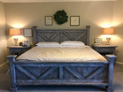 rustic king bedroom set farmhouse style king bed night