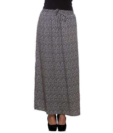 buy purys black polyester maxi skirt at best prices