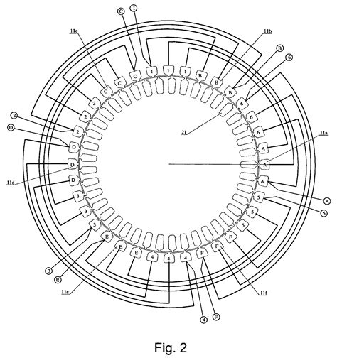 three phase motor winding diagram patent us7218021 induction motor with integrated sensor
