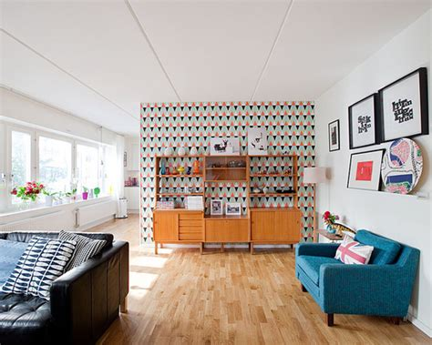 colorful wallpaper living room spice up your space 20 living room wall decor ideas