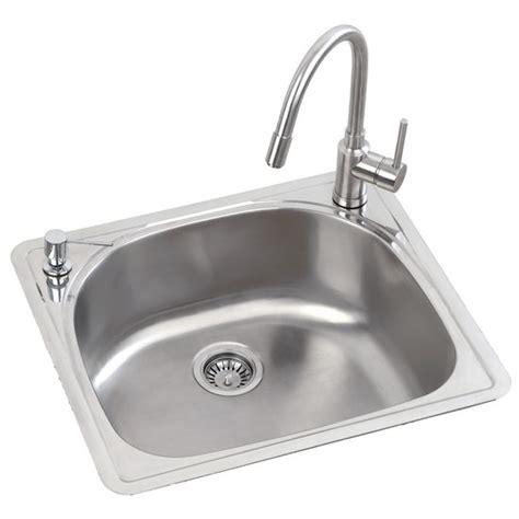 Kitchen Sink Vacuum Mitrani Titan Steel Mara Single Bowl Kitchen Sink Free